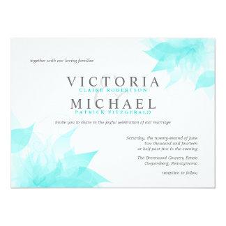 Wispy Blue Floral Wedding Invitations