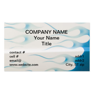 wispy blue hotrod flames Double-Sided standard business cards (Pack of 100)