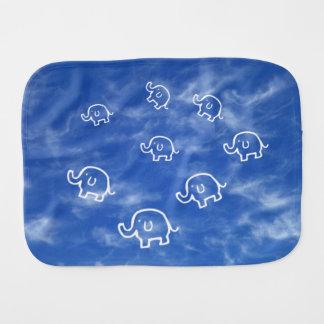Wispy Cloud Elephants Baby Burp Cloth