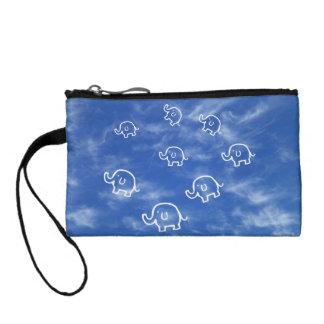 Wispy Cloud Elephants Key Coin Clutch