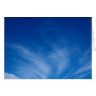 Wispy clouds on a summer day greeting cards