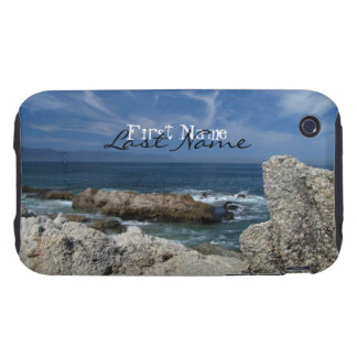 Wispy Clouds Over The Rocks; Customizable Tough iPhone 3 Case