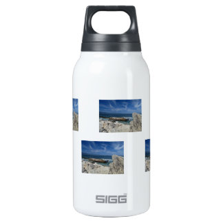 Wispy Clouds Over The Rocks Insulated Water Bottle
