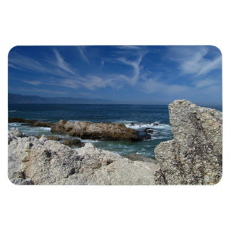Wispy Clouds Over The Rocks Magnet