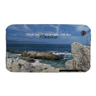 Wispy Clouds Over the Rocks; Mexico Souvenir iPhone 3 Cover