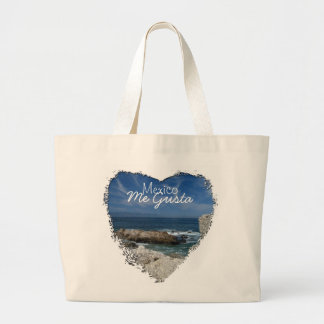 Wispy Clouds Over the Rocks; Mexico Souvenir Large Tote Bag