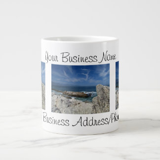 Wispy Clouds Over the Rocks; Promotional Giant Coffee Mug