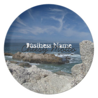 Wispy Clouds Over the Rocks; Promotional Melamine Plate