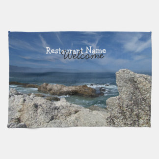 Wispy Clouds Over the Rocks; Promotional Towel