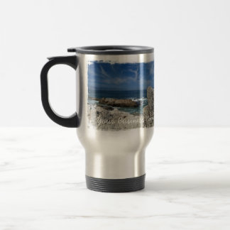Wispy Clouds Over the Rocks; Promotional Travel Mug