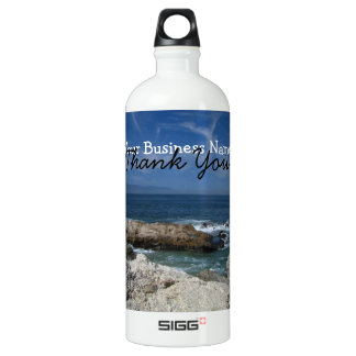 Wispy Clouds Over the Rocks; Promotional Water Bottle
