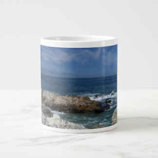 Wispy Clouds Over The Rocks Extra Large Mugs