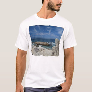 Wispy Clouds Over The Rocks T-Shirt