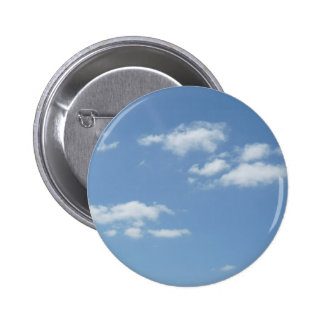Wispy Clouds Powder Blue Sky 2 Inch Round Button