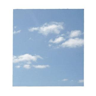 Wispy Clouds Powder Blue Sky Notepads