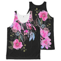 Wispy Floral Fountain All-Over-Print Tank Top