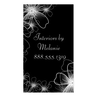 Wispy Flowers Double-Sided Standard Business Cards (Pack Of 100)