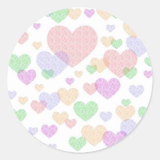 Wispy Hearts stickers