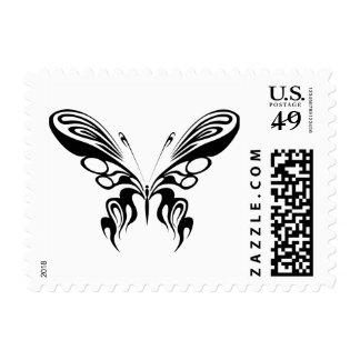 Wispy tribal butterfly stamp