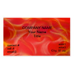 wispy yellow hotrod flames on red business card