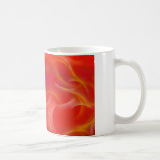 wispy yellow hotrod flames on red classic white coffee mug