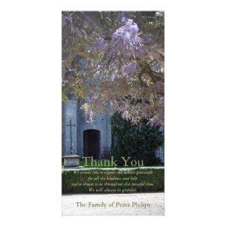 Wisteria 2 Christian Sympathy Thank You Photo Card
