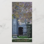 """Wisteria 3 Christian Sympathy Thank You<br><div class=""""desc"""">Photography of Chartres Cathedral Gardens,  France. Customizable Sympathy Thank You photo card. You can easily change text color,  font,  size and position by clicking the customize button.</div>"""