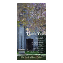 Wisteria 3 Christian Sympathy Thank You Card