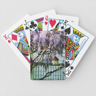 Wisteria and Birdhouse Bicycle Playing Cards