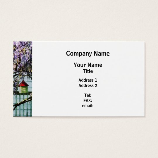 Wisteria and Birdhouse Business Card