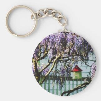 Wisteria and Birdhouse Keychains