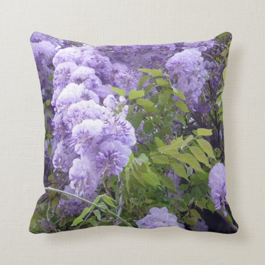 Wisteria and Grape Vines Pillow
