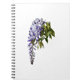 Wisteria and Leaves Notebook