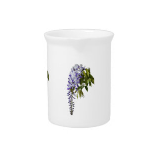 Wisteria and Leaves Pitcher