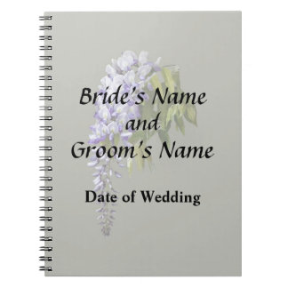Wisteria and Leaves Wedding Supplies Notebook