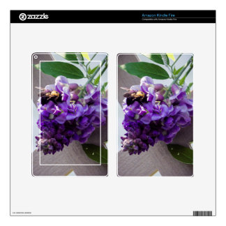 Wisteria & Bee Decals For Kindle Fire