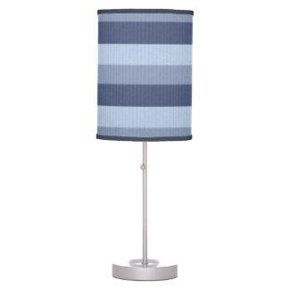 Wisteria Blues Blue Ombre Tonal Stripes Table Lamp