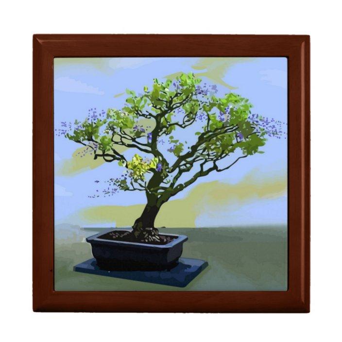 Wisteria Bonsai Tree Jewelry Box Zazzle Com