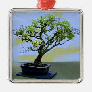 Wisteria Bonsai Tree Metal Ornament