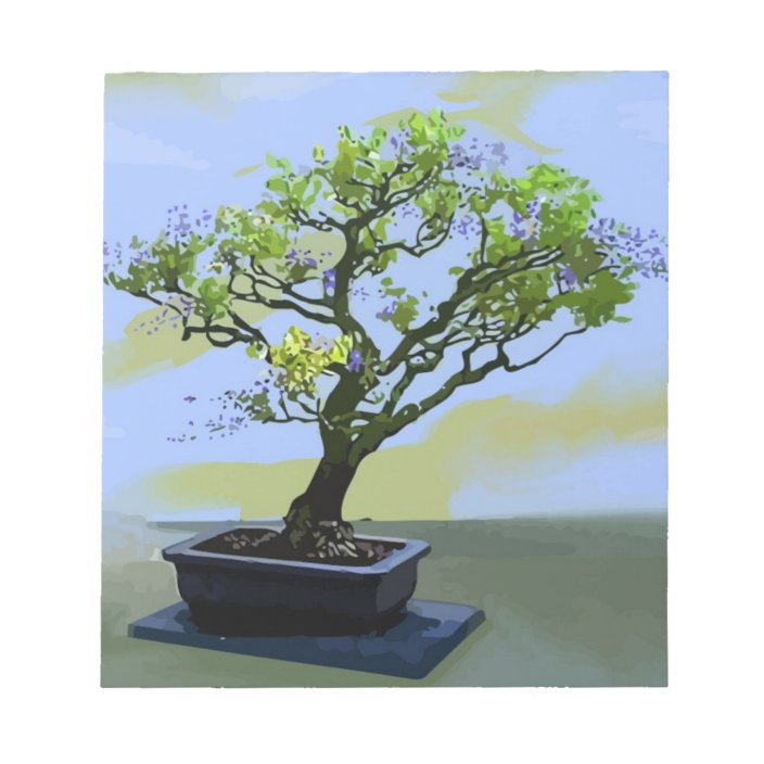 Wisteria Bonsai Tree Notepad Zazzle Com
