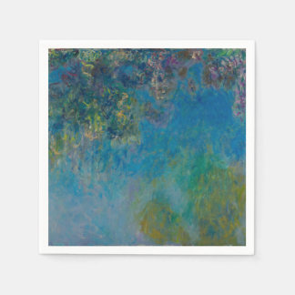 Wisteria by Claude Monet Disposable Napkins