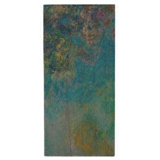 Wisteria by Claude Monet Wood USB 2.0 Flash Drive