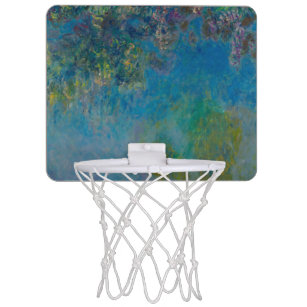 Wisteria by Claude Monet Mini Basketball Hoop