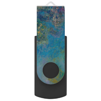 Wisteria by Claude Monet Swivel USB 2.0 Flash Drive