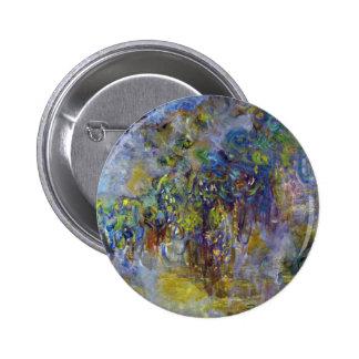 Wisteria by Claude Monet, Vintage Impressionism Button