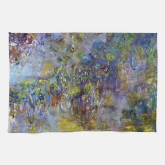 Wisteria by Claude Monet, Vintage Impressionism Hand Towel
