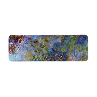 Wisteria by Claude Monet, Vintage Impressionism Label