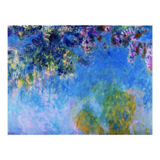 Wisteria by Impressionist Claude Monet Poster