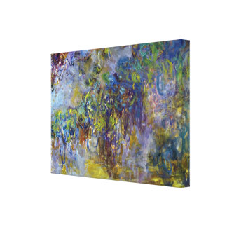 Wisteria by Monet, Vintage Floral Impressionism Stretched Canvas Prints