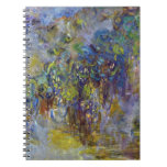 Wisteria by Monet, Vintage Floral Impressionism Notebook